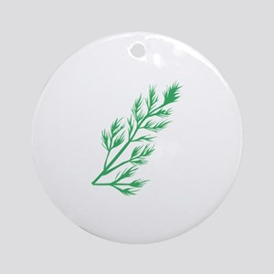Dill Weed Round Ornament