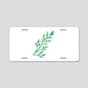 Dill Weed Aluminum License Plate
