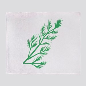 Dill Weed Throw Blanket