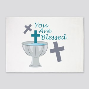 You Are Blessed 5'x7'Area Rug