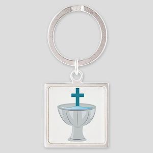 Baptismal Font Keychains