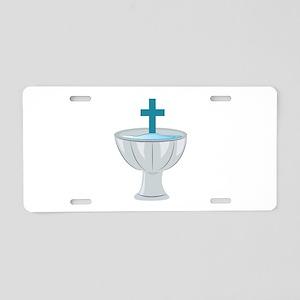 Baptismal Font Aluminum License Plate