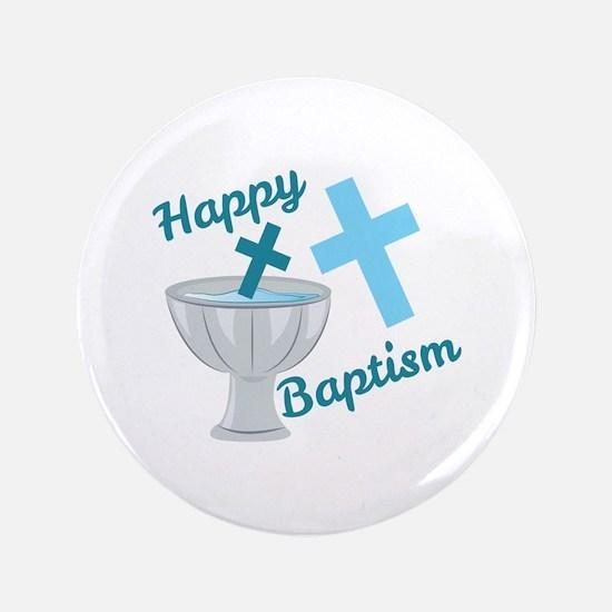 Happy Baptism Button