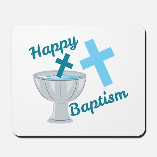 Happy Baptism Mousepad