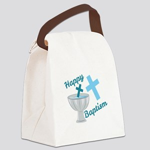 Happy Baptism Canvas Lunch Bag