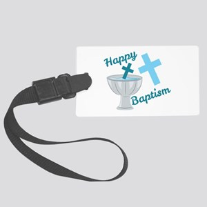 Happy Baptism Luggage Tag