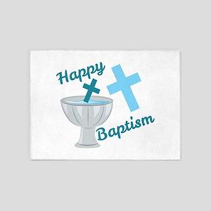 Happy Baptism 5'x7'Area Rug