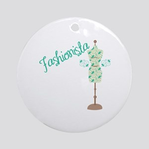 Fashionista Round Ornament