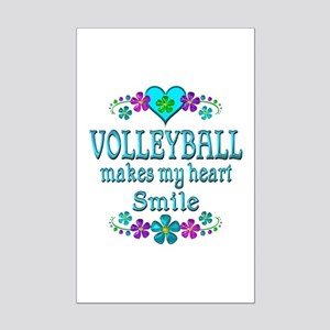 Volleyball Smiles Mini Poster Print