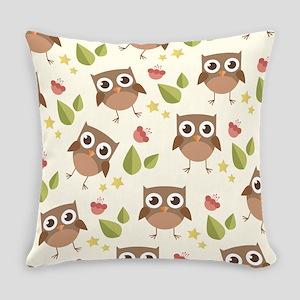 Retro Owl Pattern Everyday Pillow