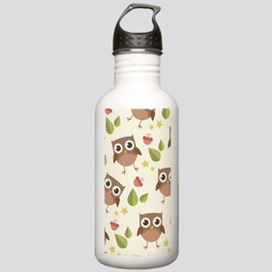 Retro Owl Pattern Stainless Water Bottle 1.0L