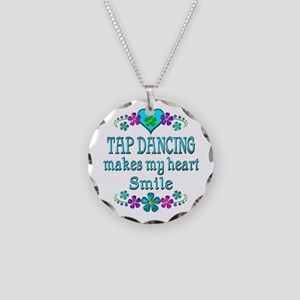 Tap Dancing Smiles Necklace Circle Charm