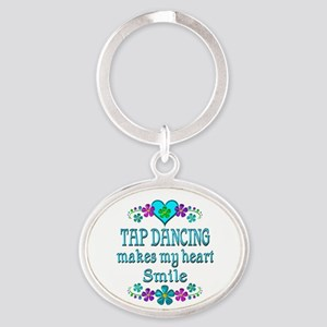 Tap Dancing Smiles Oval Keychain