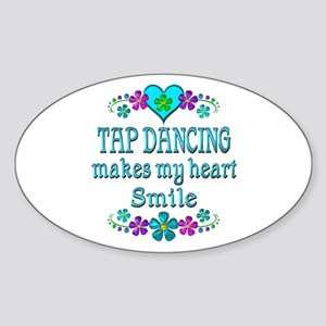 Tap Dancing Smiles Sticker (Oval)