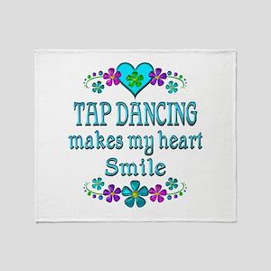 Tap Dancing Smiles Throw Blanket