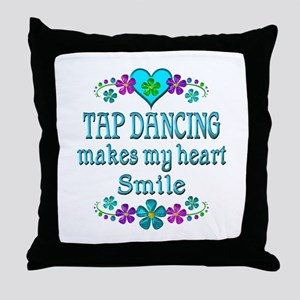Tap Dancing Smiles Throw Pillow