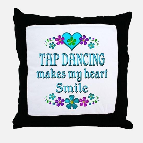 Tap Dancing Smiles Throw Pillow