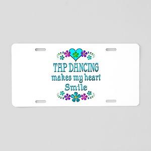 Tap Dancing Smiles Aluminum License Plate