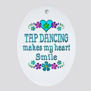 Tap Dancing Smiles Oval Ornament