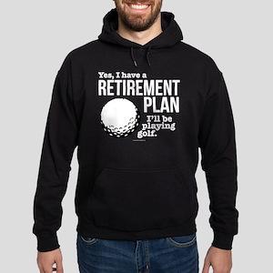 Golf Retirement Plan Hoodie (dark)