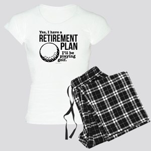 Golf Retirement Plan Women's Light Pajamas