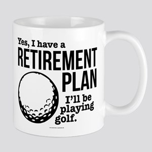 Golf Retirement Plan Mugs