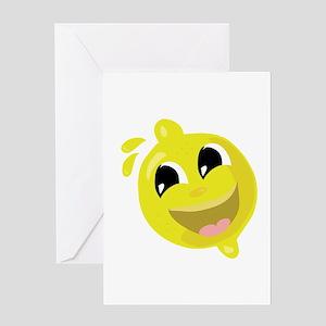 Happy Lemon Greeting Cards