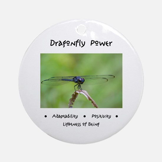 Dragonfly Taking Flight Gifts Round Ornament