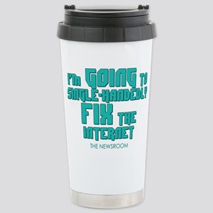 The Newsroom: Fix The Internet Travel Mug