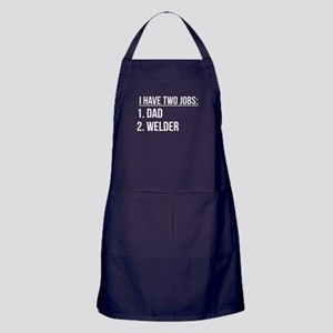 Two Jobs Dad And Welder Apron (dark)
