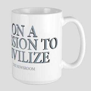 The Newsroom: Mission To Civilize Large Mug