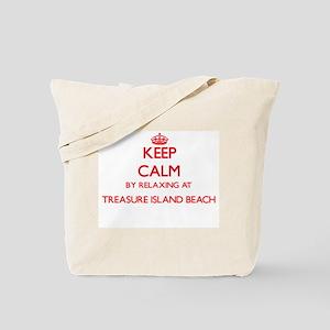 Keep calm by relaxing at Treasure Island Tote Bag