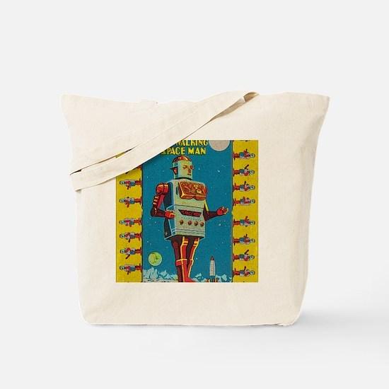 Funny Robots Tote Bag