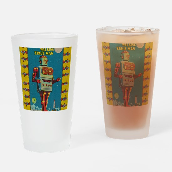 Funny Robots Drinking Glass