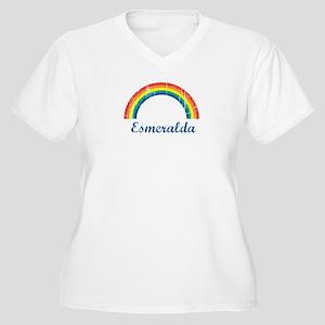 Esmeralda vintage rainbow Women's Plus Size V-Neck