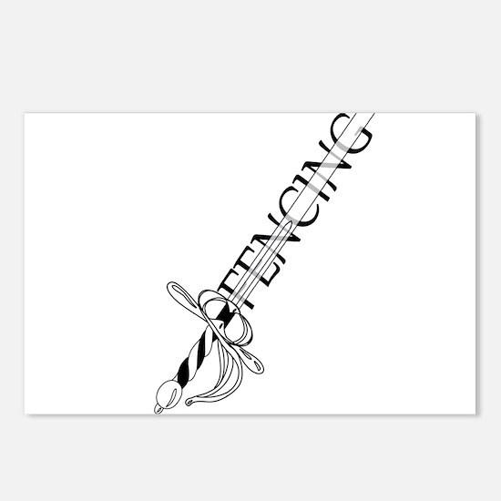 Fencing Rapier Postcards (Package of 8)