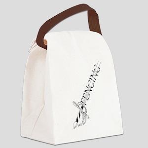 Fencing Rapier Canvas Lunch Bag