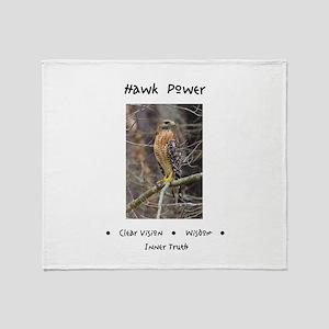 Hawk Power Animal Medicine Throw Blanket