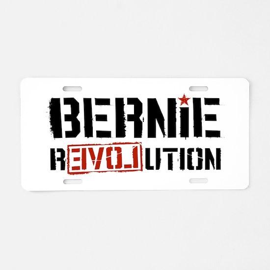 Bernie Revolution Aluminum License Plate