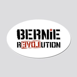 Bernie Revolution 20x12 Oval Wall Decal