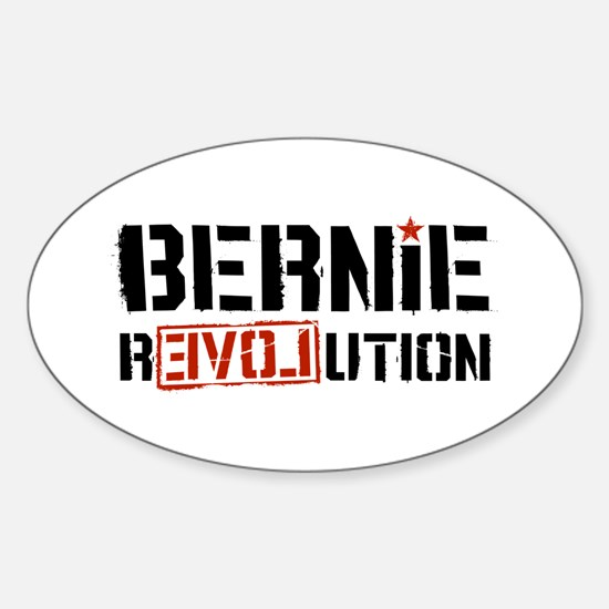 Bernie Revolution Sticker (Oval)