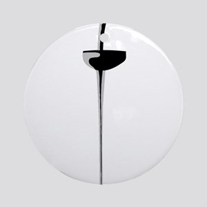 Epee Sword 2 Round Ornament