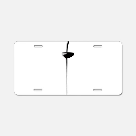 Epee Sword 2 Aluminum License Plate