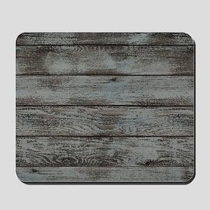 black white barn wood Mousepad