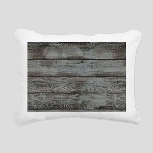black white barn wood Rectangular Canvas Pillow