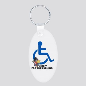 In it for the Parking Aluminum Oval Keychain