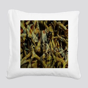 western country antler camouf Square Canvas Pillow