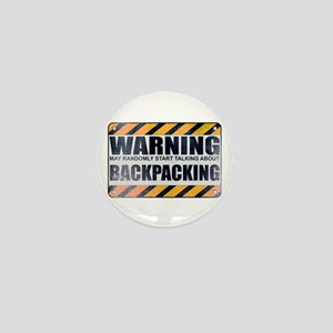 Warning: Backpacking Mini Button