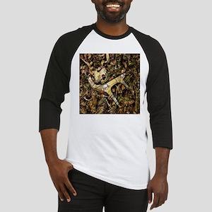 rustic deer antler camo Baseball Jersey