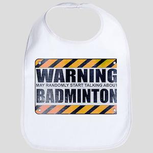 Warning: Badminton Bib